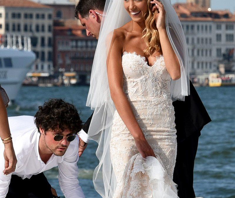 El vestido de novia de la esposa de Morata