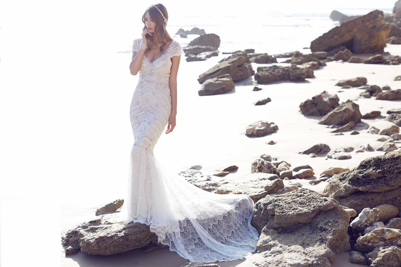 Vestido de novia boho Anna Campbell