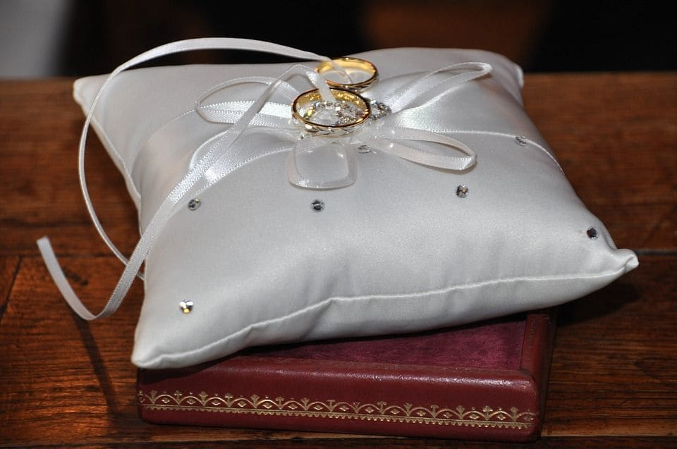 Donde se ponen el anillo de compromiso y de casada blanco de novia - En que mano se lleva el anillo de casado ...